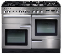 Rangemaster Professional Plus PROP110DFFSS/C 110cm Dual Fuel Range Cooker - Stainless Steel/Chrome Trim