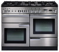 Rangemaster Professional Plus PROP110NGFSS/C 110cm Gas Range Cooker - Stainless Steel/Chrome Trim