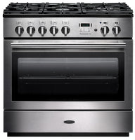 Rangemaster Professional Plus FX PROP90FXDFFSS/C 90cm Dual Fuel Range Cooker - Stainless Steel/Chrome Trim