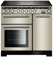 Rangemaster Encore Deluxe EDL90EIIV/C 90cm Electric Range Cooker with Induction Hob - Ivory/Chrome Trim