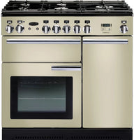 Rangemaster Professional Plus PROP90DFFCR/C 90cm Dual Fuel Range Cooker - Cream/Chrome Trim