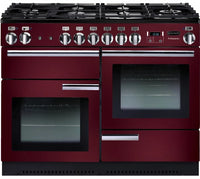 Rangemaster Professional Plus PROP110DFFCY/C 110cm Dual Fuel Range Cooker - Cranberry/Chrome Trim