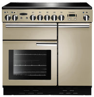 Rangemaster Professional Plus PROP90EICR/C 90cm Electric Range Cooker with Induction Hob - Cream/Chrome Trim
