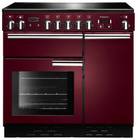 Rangemaster Professional Plus PROP90EICY/C 90cm Electric Range Cooker with Induction Hob - Cranberry/Chrome Trim