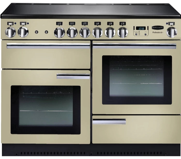 Rangemaster Professional Plus PROP110EICR/C 110cm Electric Range Cooker with Induction Hob - Cream/Chrome Trim
