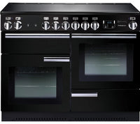 Rangemaster Professional Plus PROP110EIGB/C 110cm Electric Range Cooker with Induction Hob - Black/Chrome Trim