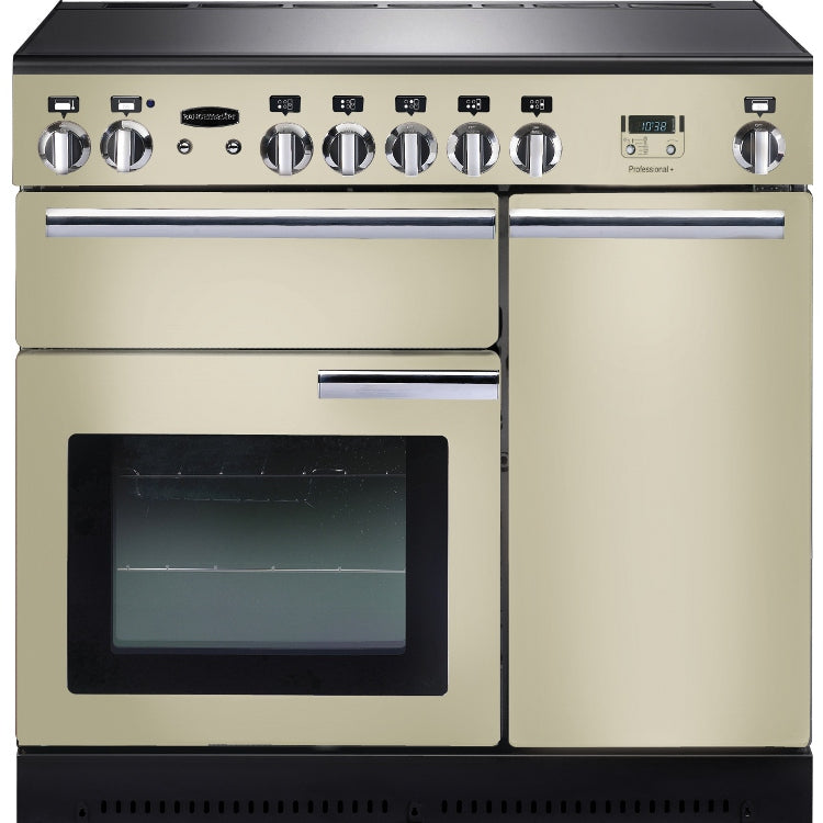 Rangemaster Professional Plus PROP90ECCR/C 90cm Electric Range Cooker with Ceramic Hob - Cream/Chrome Trim