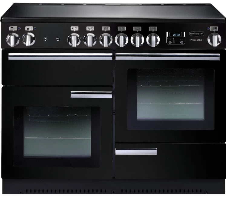 Rangemaster Professional Plus PROP110ECGB/C 110cm Electric Range Cooker with Ceramic Hob - Black/Chrome