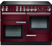 Rangemaster Professional Plus PROP110ECCY/C 110cm Electric Range Cooker with Ceramic Hob - Cranberry/Chrome Trim