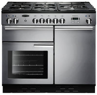 Rangemaster Professional Plus PROP100DFFSS/C 100cm Dual Fuel Range Cooker - Stainless Steel