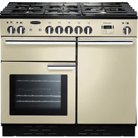 Rangemaster Professional Plus PROP100DFFCR/C 100cm Dual Fuel Range Cooker - Cream/Chrome Trim