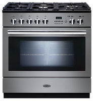 Rangemaster Professional Plus FXP PROP90FXPDFFSS/C 90cm Dual Fuel Range Cooker - Stainless Steel/Chrome Trim