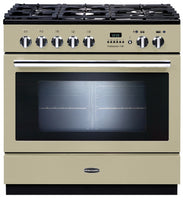 Rangemaster Professional Plus FXP PROP90FXPDFFCR/C 90cm Dual Fuel Range Cooker - Cream/Chrome Trim