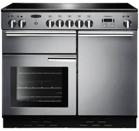 Rangemaster Professional Plus PROP100EISS/C 100cm Electric Range Cooker with Induction Hob - Stainless Steel