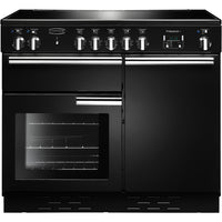 Rangemaster Professional Plus PROP100EIGB/C 100cm Electric Range Cooker with Induction Hob - Black/Chrome Trim