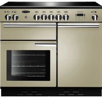 Rangemaster Professional Plus PROP100EICR/C 100cm Electric Range Cooker with Induction Hob - Cream/Chrome Trim