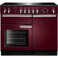 Rangemaster Professional Plus PROP100EICY/C 100cm Electric Range Cooker with Induction Hob - Cranberry/Chrome Trim