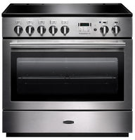 Rangemaster Professional Plus FX PROP90FXEISS/C 90cm Electric Range Cooker with Induction Hob - Stainless Steel/Chrome Trim