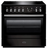 Rangemaster Professional Plus FX PROP90FXEIGB/C 90cm Electric Range Cooker with Induction Hob - Black/Chrome Trim