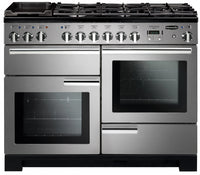 Rangemaster Professional Deluxe PDL110DFFSS/C 110cm Dual Fuel Range Cooker - Stainless Steel/Chrome Trim