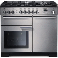 Rangemaster Professional Deluxe PDL100DFFSS/C 100cm Dual Fuel Range Cooker - Stainless Steel
