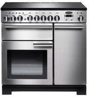 Rangemaster Professional Deluxe PDL90EISS/C 90cm Electric Range Cooker with Induction Hob - Stainless Steel/Chrome Trim