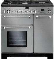Rangemaster Kitchener KCH90DFFSS/C 90cm Dual Fuel Range Cooker - Stainless Steel/Chrome Trim