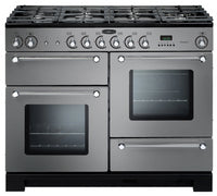 Rangemaster Kitchener KCH110DFFSS/C 110cm Dual Fuel Range Cooker - Stainless Steel/Chrome Trim