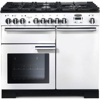 Rangemaster Professional Deluxe PDL100DFFWH/C 100cm Dual Fuel Range Cooker - White