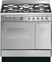 Smeg CC92MX9 90cm Dual Fuel Range Cooker - Stainless Steel