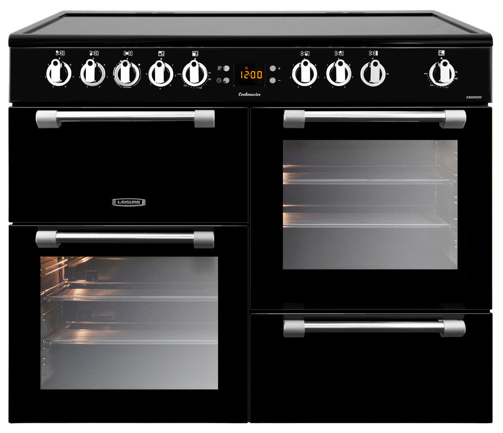 Leisure Cookmaster 100 Electric Ceramic Hob Range Cooker Black - Moores Appliances Ltd.