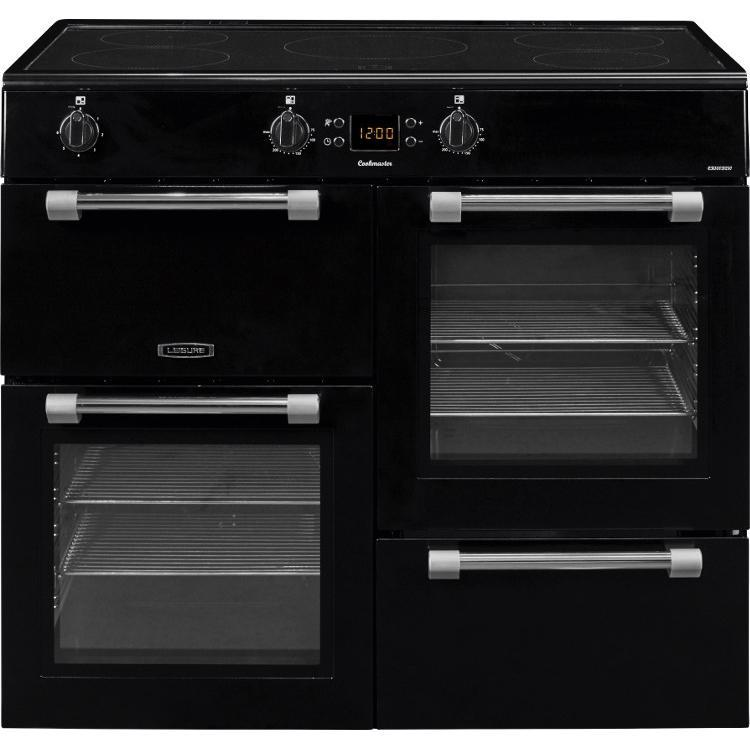 Leisure Cookmaster CK100D210K Electric Range Cooker with Induction Hob - Black