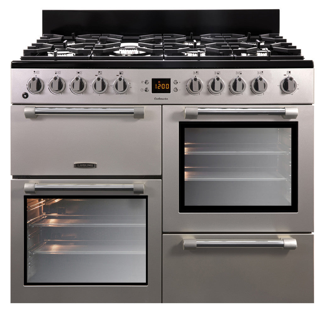 Leisure Cookmaster 100 Dual Fuel Range Cooker Silver - Moores Appliances Ltd.