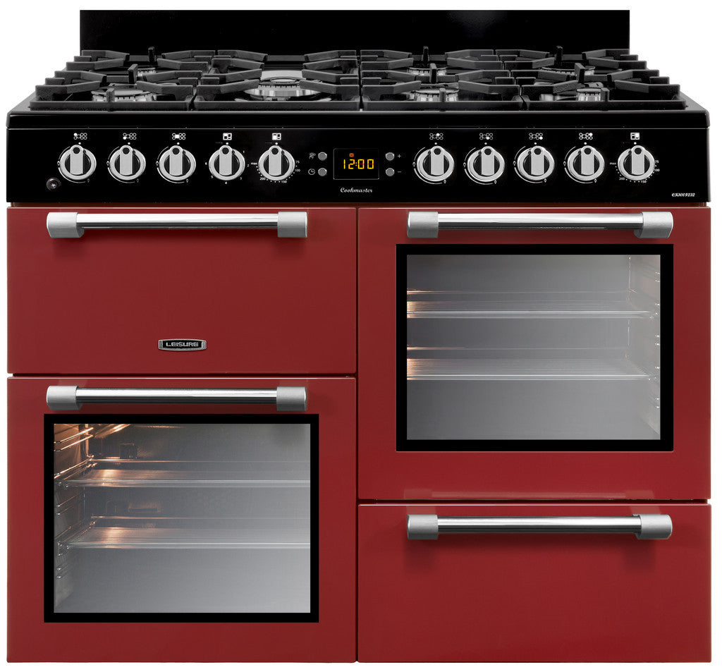 Leisure Cookmaster 100 Dual Fuel Range Cooker Red - Moores Appliances Ltd.