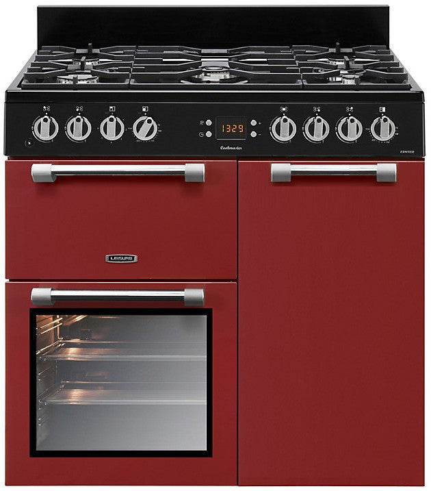 Leisure Cookmaster 90 Dual Fuel Range Cooker Red - Moores Appliances Ltd.