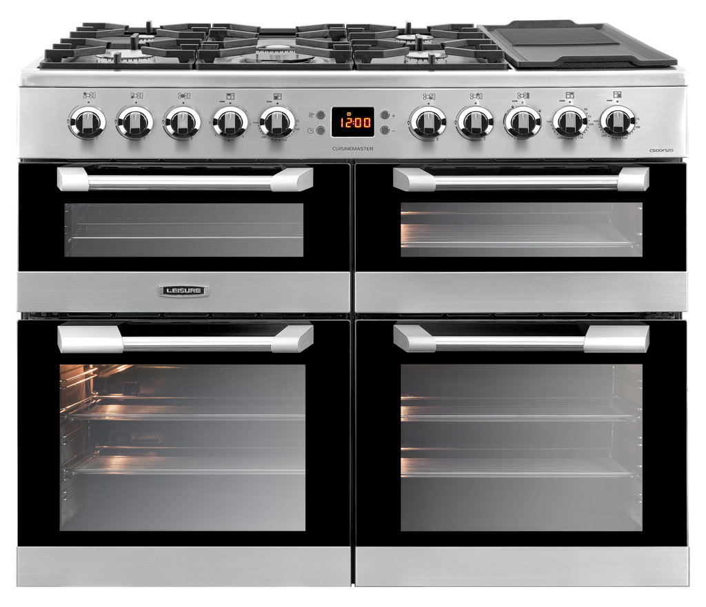 Leisure Cuisinemaster 100 Dual Fuel Range Cooker Stainless Steel - Moores Appliances Ltd.