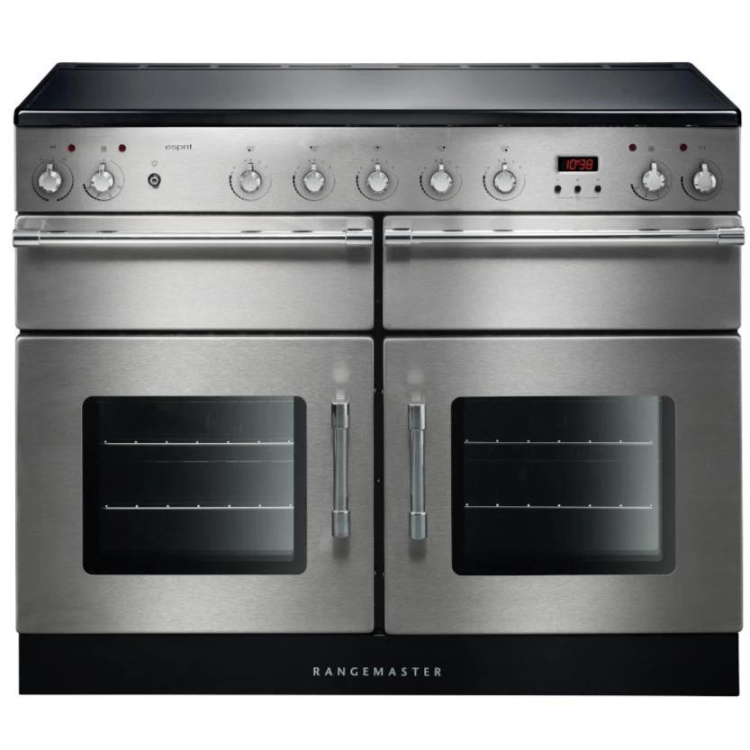 Rangemaster Esprit ESP110EISS/C 110cm Electric Range Cooker with Induction Hob - Stainless Steel/Chrome Trim