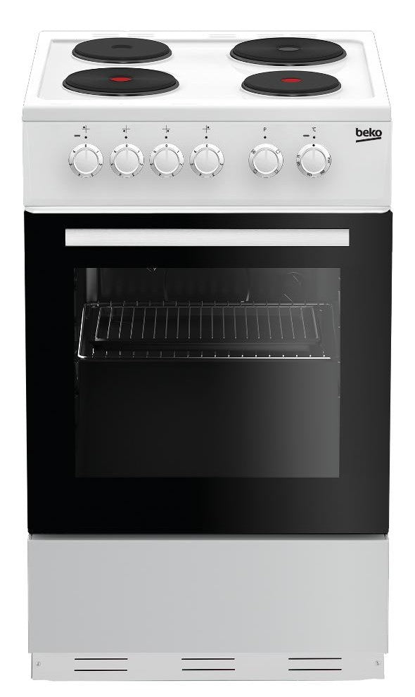 Beko ESP50W 50cm Electric Cooker with Solid Plate Hob - White