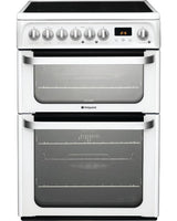 Hotpoint HUE61PS 60cm Electric Cooker with Ceramic Hob - White