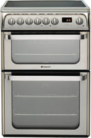 Hotpoint HUE61X 60cm Electric Cooker with Ceramic Hob - Inox