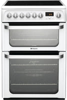 Hotpoint HUE62PS 60cm Electric Cooker with Ceramic Hob - White