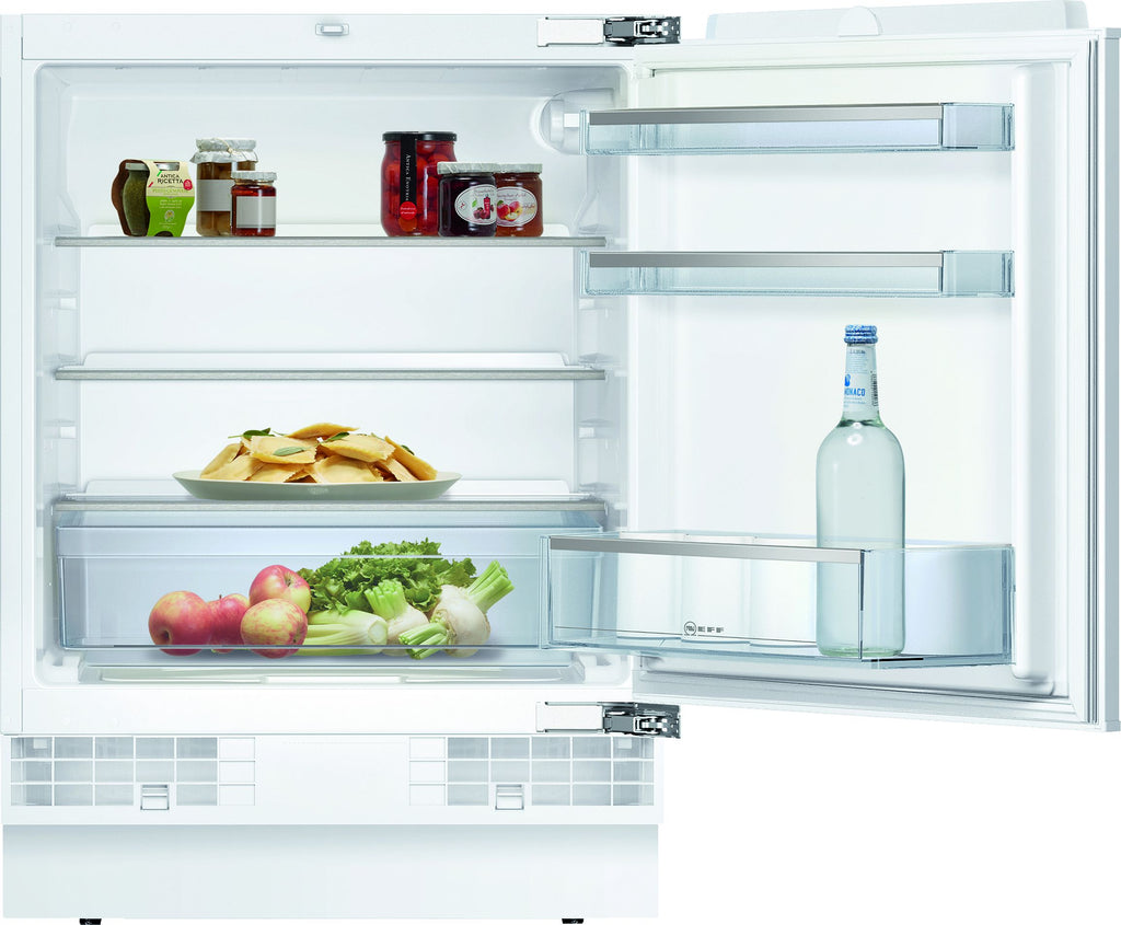 Neff N50 K4316XFF0G 60cm Integrated Undercounter Larder Fridge - Fixed Door Fixing Kit - White - A+ Rated