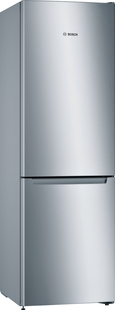 Bosch Serie 2 KGN33NLEAG 60cm Frost Free Fridge Freezer - Stainless Steel Effect - E Rated