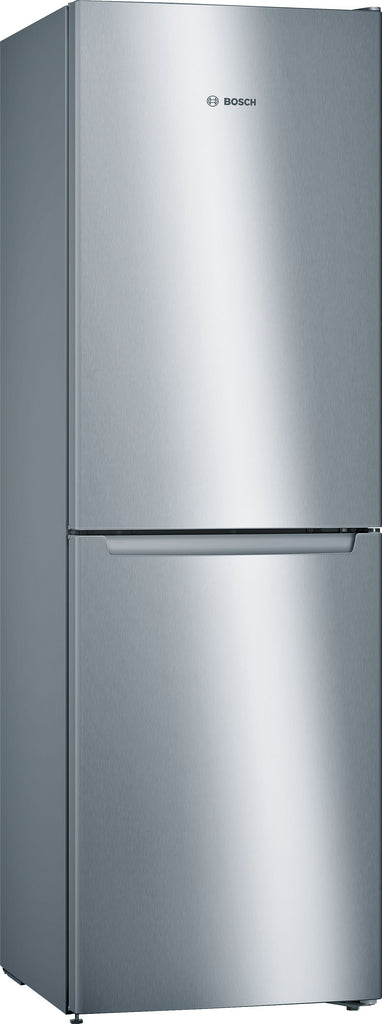 Bosch Serie 2 KGN34NLEAG 60cm Frost Free Fridge Freezer - Stainless Steel Effect - E Rated