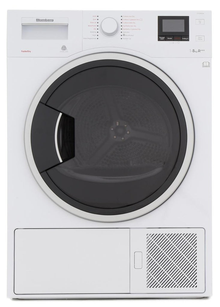 Blomberg LTH3842W 8Kg Heat Pump Condenser Tumble Dryer - White - A+++ Rated