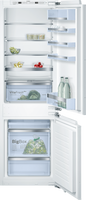 Bosch Serie 6 KIS86AFE0G Integrated Fridge Freezer with Fixed Door Fixing Kit - White - E Rated