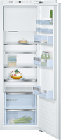 Bosch Serie 6 KIL82AFF0G 56cm Integrated Upright Fridge with Ice Box - Fixed Door Fixing Kit - White - F Rated