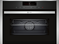 NEFF N90 C18FT56H0B Wifi Connected Built In Compact Electric Single Oven with Steam Function - Stainless Steel
