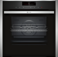 NEFF N90 Slide&Hide B58VT68H0B Wifi Connected Built In Electric Single Oven with Steam Function - Stainless Steel