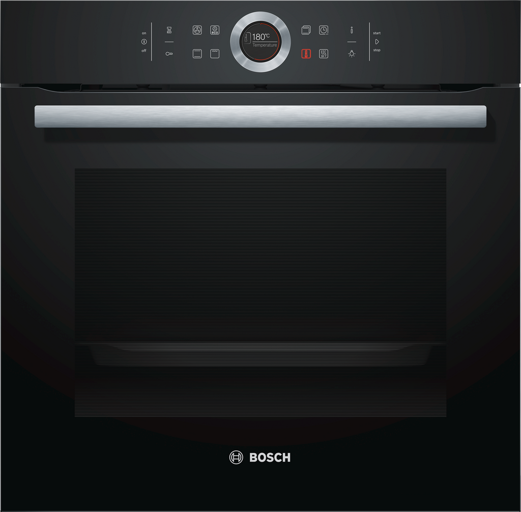 Bosch Serie 8 HBG634BB1B Built In Electric Single Oven - Black